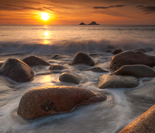 Porth Nanven Sunset, Cornwall, by Andrew Jones
