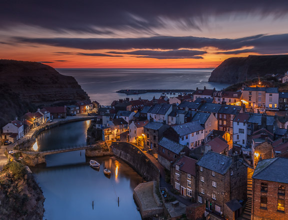 Before Sunrise at Staithes, Yorkshire, by Andrew Jones