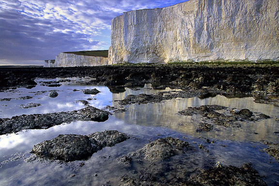 Seven Sisters Reflection, East Sussex, by Andrew Jones