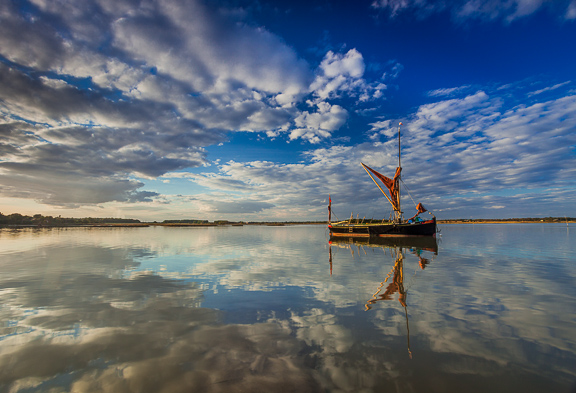 The Sailing Barge, River Alde, Suffolk, by Andrew Jones