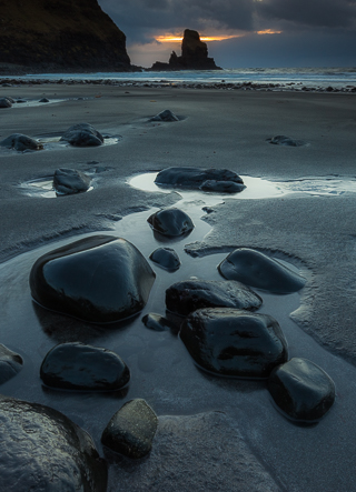 Falling Tide at Talisker Bay, Isle of Skye, Scotland, by Andrew Jones